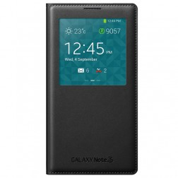 """""""Samsung"""" S View Cover atverčiamas dėklas - juodas (Galaxy Note 3)"""
