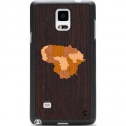 """""""Crafted Cover"""" natūralaus medžio dėklas - Lietuva (Galaxy Note 4)"""