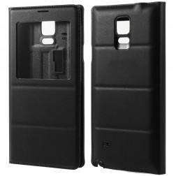 Atverčiamas dėklas su langeliu - juodas (Galaxy Note 4)