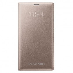 """""""Samsung"""" LED Flip Wallet atverčiamas dėklas - auksinis (Galaxy Note 4)"""