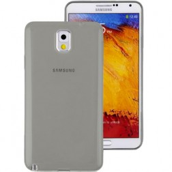 Ploniausias TPU skaidrus dėklas - pilkas (Galaxy Note 4)