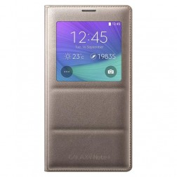 """""""Samsung"""" S View Cover atverčiamas dėklas - auksinis (Galaxy Note 4)"""