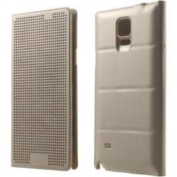 """Atverčiamas """"Dot View"""" dėklas - auksinis (Galaxy Note 4)"""