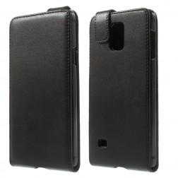Klasikinis atverčiamas dėklas - juodas (Galaxy Note 4)