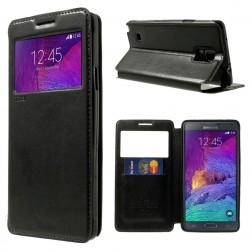 """""""Roar"""" Noble atverčiamas dėklas - juodas (Galaxy Note 4)"""