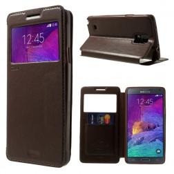 """""""Roar"""" Noble atverčiamas dėklas - rudas (Galaxy Note 4)"""