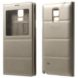 Atverčiamas dėklas su langeliu - auksinis (Galaxy Note 4)