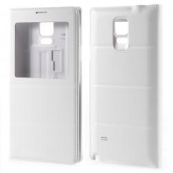 Atverčiamas dėklas su langeliu - baltas (Galaxy Note 4)