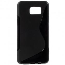 """""""S-Line"""" kieto silikono (TPU) dėklas - juodas (Galaxy Note 5)"""
