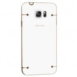 Plastikinis skaidrus dėklas, auksinis (Galaxy Note 5)