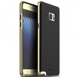 """""""IPAKY"""" kieto silikono (TPU) dėklas - juodas / auksinis (Galaxy Note 7)"""