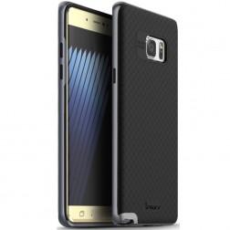 """""""IPAKY"""" kieto silikono (TPU) dėklas - juodas / pilkas (Galaxy Note 7)"""