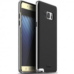 """""""IPAKY"""" kieto silikono (TPU) dėklas - juodas / sidabrinis (Galaxy Note 7)"""