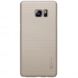 """""""Nillkin"""" Frosted Shield dėklas - auksinis + apsauginė ekrano plėvelė (Galaxy Note 7)"""