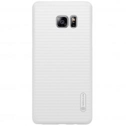 """""""Nillkin"""" Frosted Shield dėklas - baltas + apsauginė ekrano plėvelė (Galaxy Note 7)"""