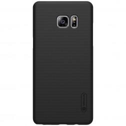 """""""Nillkin"""" Frosted Shield dėklas - juodas + apsauginė ekrano plėvelė (Galaxy Note 7)"""