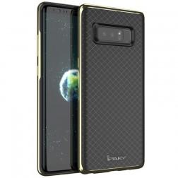 """""""IPAKY"""" kieto silikono (TPU) dėklas - juodas / auksinis (Galaxy Note 8)"""