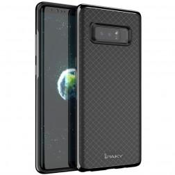 """""""IPAKY"""" kieto silikono (TPU) dėklas - juodas / pilkas (Galaxy Note 8)"""