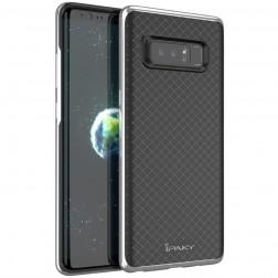 """""""IPAKY"""" kieto silikono (TPU) dėklas - juodas / sidabrinis (Galaxy Note 8)"""