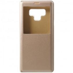 Atverčiamas dėklas su langeliu - auksinis (Galaxy Note 9)