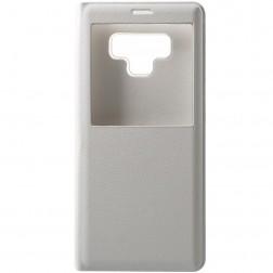 Atverčiamas dėklas su langeliu - baltas (Galaxy Note 9)