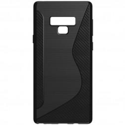 Kieto silikono (TPU) dėklas - juodas (Galaxy Note 9)