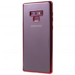 Silikoninis skaidrus dėklas - raudonas (Galaxy Note 9)