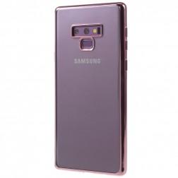 Silikoninis skaidrus dėklas - rožinis (Galaxy Note 9)