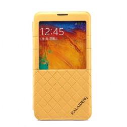 """""""Kalaideng"""" atverčiamas dėklas - gelsvas (Galaxy Note 3)"""