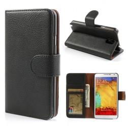 Atverčiamas dėklas, piniginė - juodas (Galaxy Note 3)