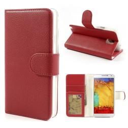 Atverčiamas dėklas, piniginė - raudonas (Galaxy Note 3)