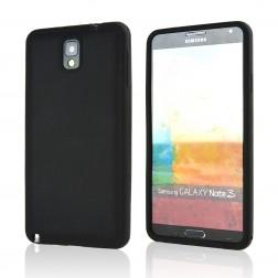 Silikoninis dėklas - juodas (Galaxy Note 3)