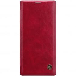 """""""Nillkin"""" Qin atverčiamas dėklas - raudonas (Galaxy Note 10+)"""