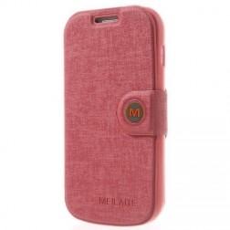 """""""MLT"""" atverčiamas dėklas - šviesiai rožinis (Galaxy S Duos / S Duos 2 / Trend / Trend Plus)"""