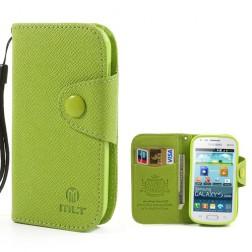 """""""MLT"""" atverčiamas dėklas, piniginė - žalias (Galaxy S Duos / Trend)"""