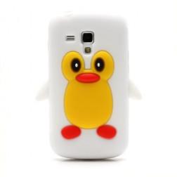 Žaismingas silkoninis dėklas - pingvinas (Galaxy S Duos / S Duos 2 / Trend / Trend Plus)