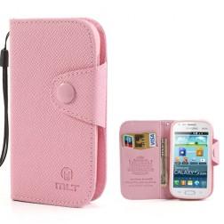 """""""MLT"""" atverčiamas dėklas, piniginė - rožinis (Galaxy S Duos / Trend)"""