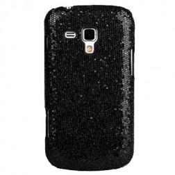 """""""Glitter"""" plastikinis dėklas - juodas (Galaxy S Duos / S Duos 2 / Trend / Trend Plus)"""