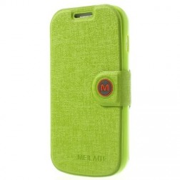 """""""MLT"""" atverčiamas dėklas - žalias (Galaxy S Duos / S Duos 2 / Trend / Trend Plus)"""