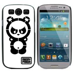 """""""Angry Panda"""" dėklas - baltas (Galaxy S3)"""
