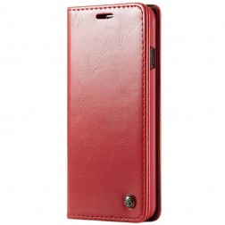 """""""CaseMe"""" solidus atverčiamas dėklas - raudonas (Galaxy S10)"""