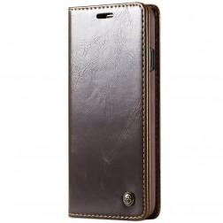 """""""CaseMe"""" solidus atverčiamas dėklas - rudas (Galaxy S10)"""