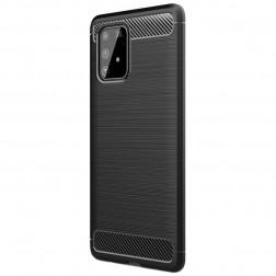"""""""Carbon"""" kieto silikono (TPU) dėklas - juodas (Galaxy S10 Lite)"""