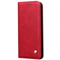 """""""Deluxe"""" atverčiamas dėklas - raudonas (Galaxy S10 Lite)"""