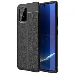 """""""FOCUS"""" kieto silikono (TPU) dėklas - juodas (Galaxy S10 Lite)"""