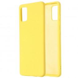 """""""Shell"""" kieto silikono (TPU) dėklas - geltonas (Galaxy S10 Lite)"""