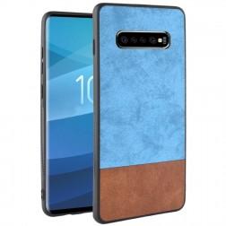"""""""Bi-Color"""" Splicing dėklas - rudas / mėlynas (Galaxy S10+)"""