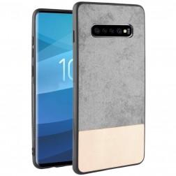 """""""Bi-Color"""" Splicing dėklas - smėlio spalvos / pilkas (Galaxy S10+)"""