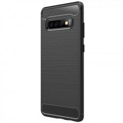 """""""Carbon"""" kieto silikono (TPU) dėklas - juodas (Galaxy S10+)"""