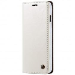 """""""CaseMe"""" solidus atverčiamas dėklas - baltas (Galaxy S10+)"""